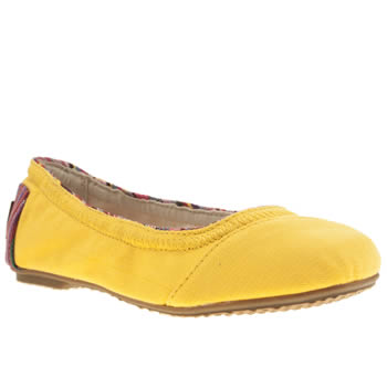 Toms Yellow Ballet Flat Girls Youth