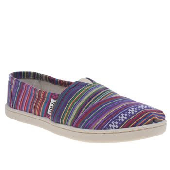 Girls Toms Multi Seasonal Classic Girls Youth
