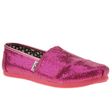 Youth Pink Toms Classic Glitter
