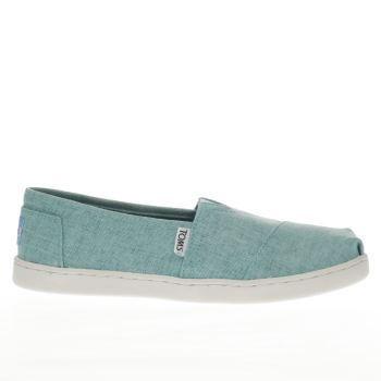 Toms Turquoise Classic Girls Youth