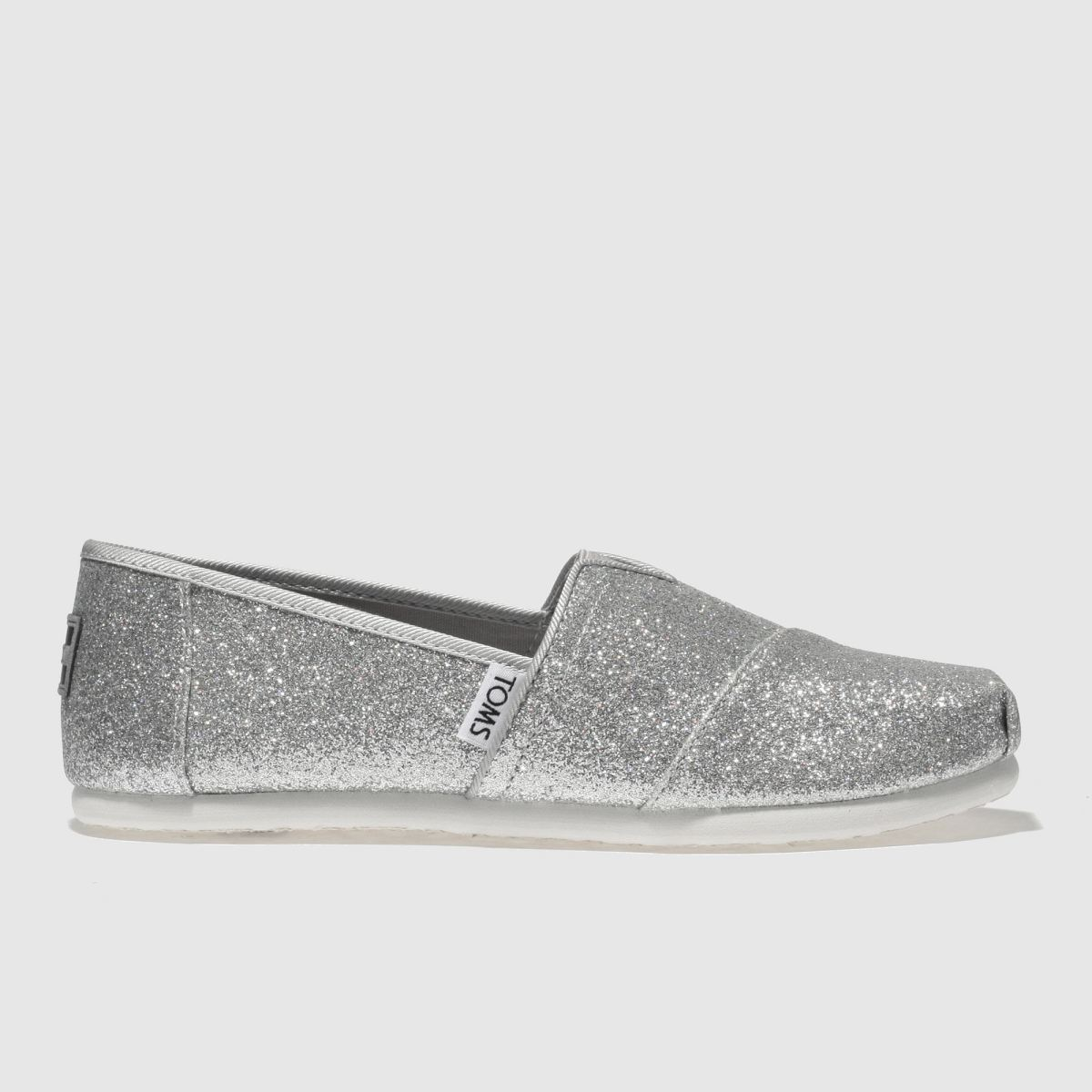 Toms Silver Classic Girls Youth Youth
