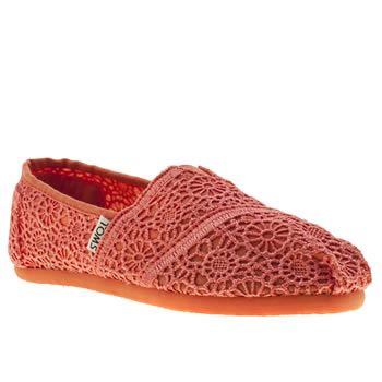 Toms Peach Classic Crochet Girls Youth