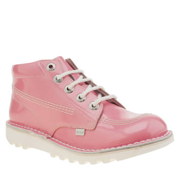 Kickers Pink Kick Hi Lace Girls Youth