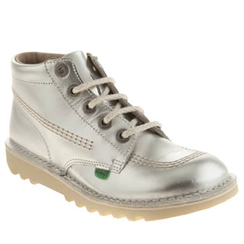 Kickers Silver Kick Hi Lace Girls Youth