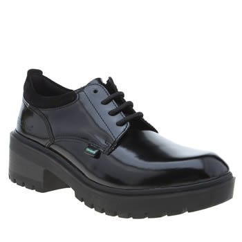 Kickers Black Kickmando Lace Girls Youth