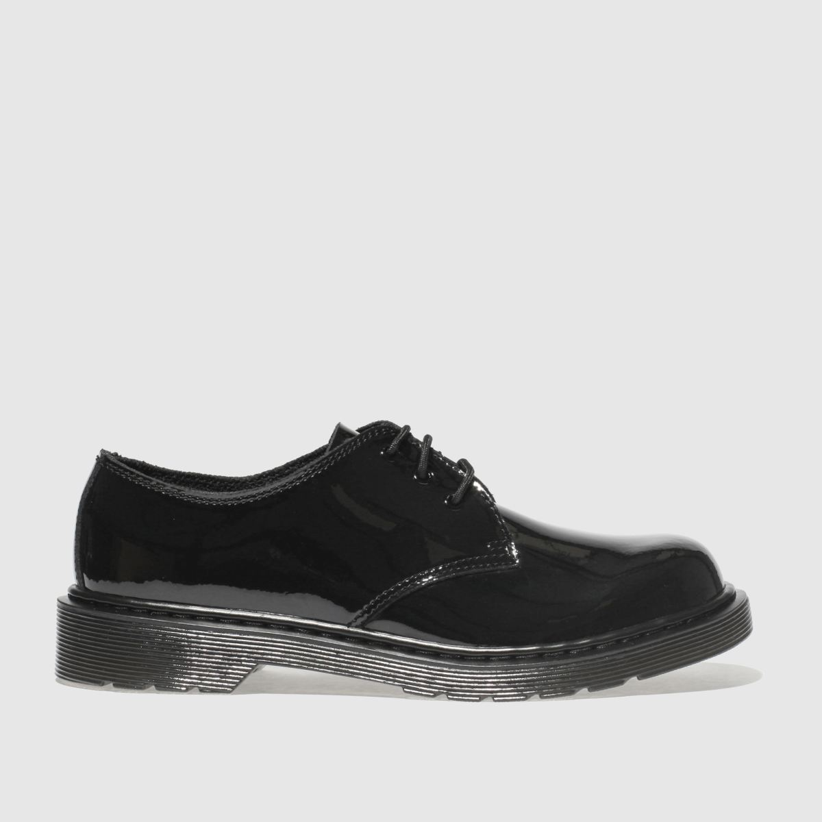 Dr Martens Black 1461 Girls Youth Shoes