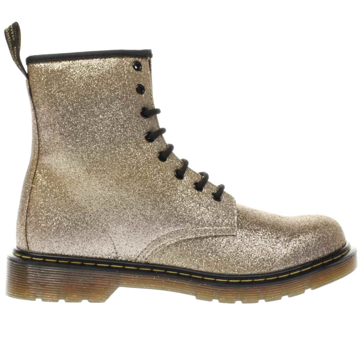 dr martens gold delaney glitter boot Girls Youth Boots