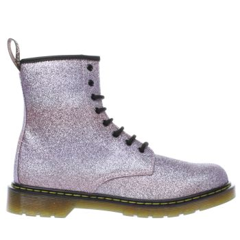 Dr Martens Pink Delaney Glitter Boot Girls Youth