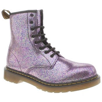 Dr Martens Purple Delaney Spakle Girls Youth