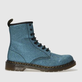 Dr Martens Blue Delaney Glitter Boot Girls Youth