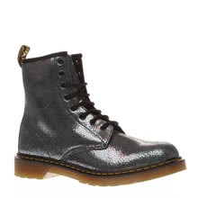 Dr Martens Silver Delaney Sparkle Girls Youth