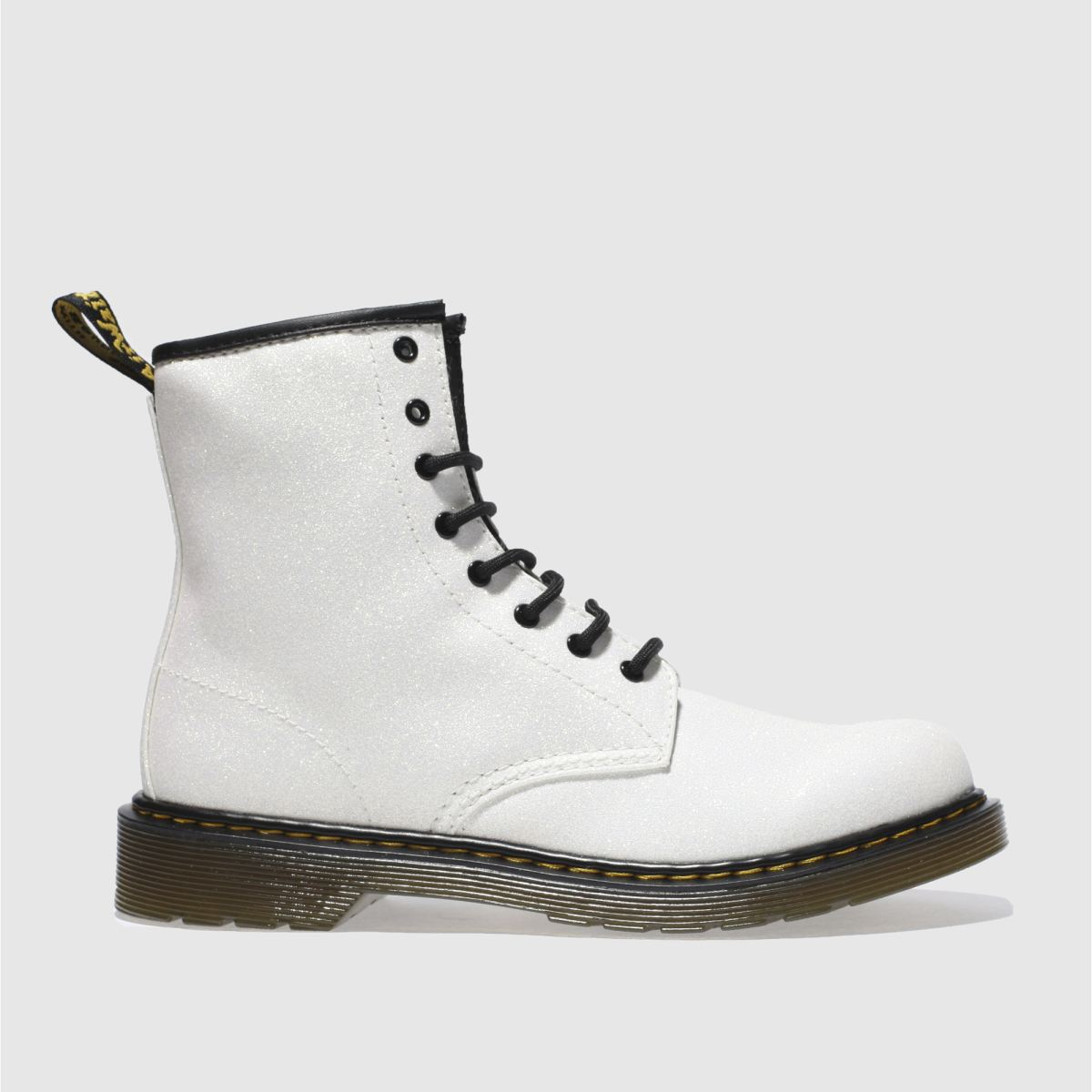 dr martens white delaney glitter Girls Youth Boots
