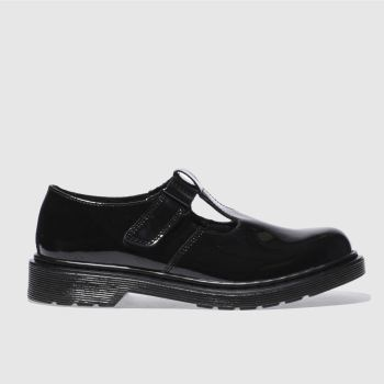 Dr Martens Black Goldie T Bar Girls Youth