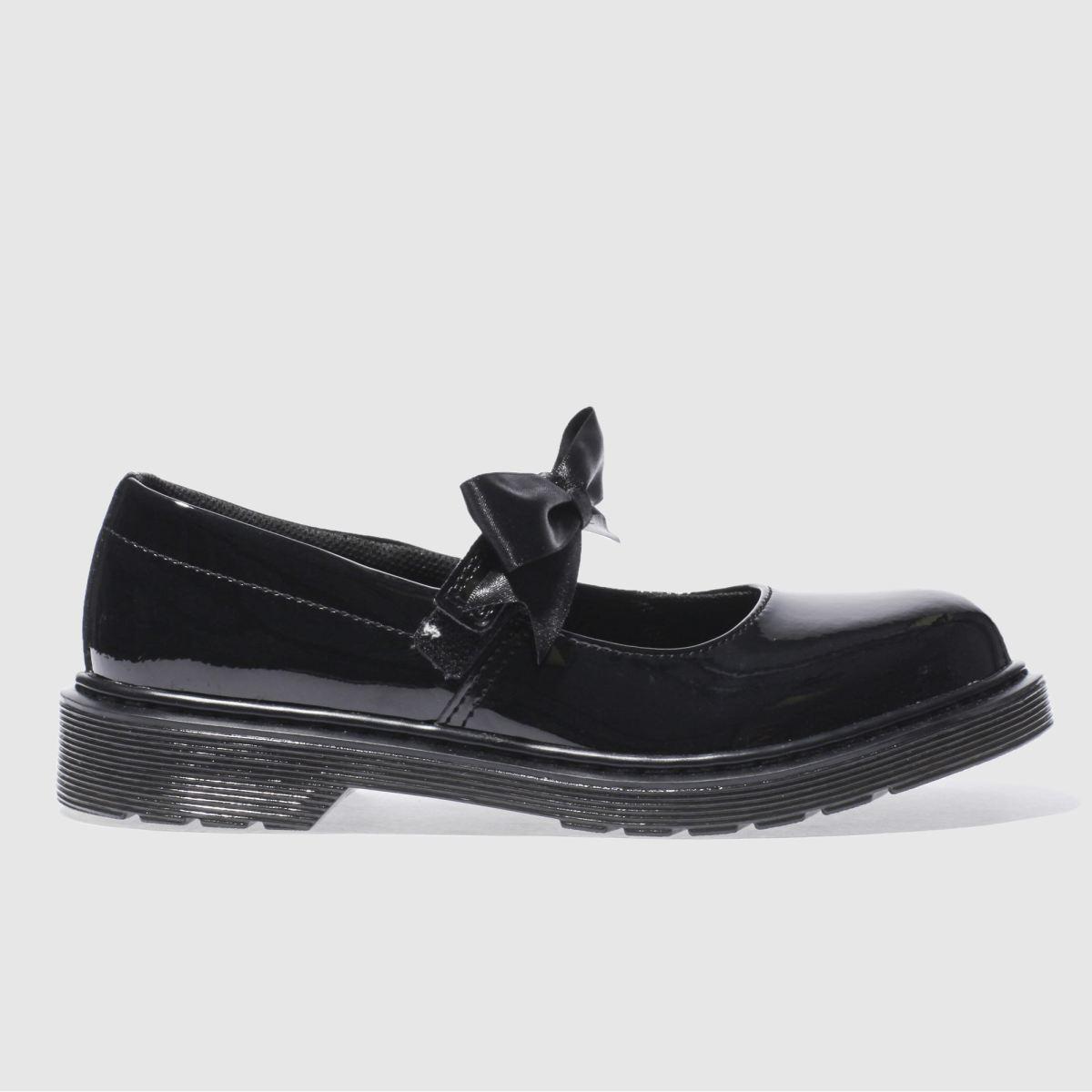 dr martens black dm maccy ii yth Girls Youth Shoes