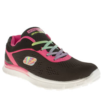 Skechers Black & pink Skech Appeal Whimzies Girls Youth