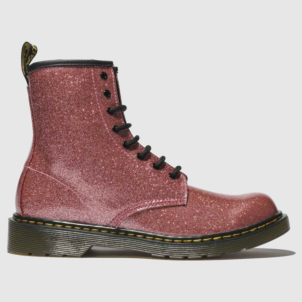 Dr Martens Pink 1460 Glitter Boots Youth