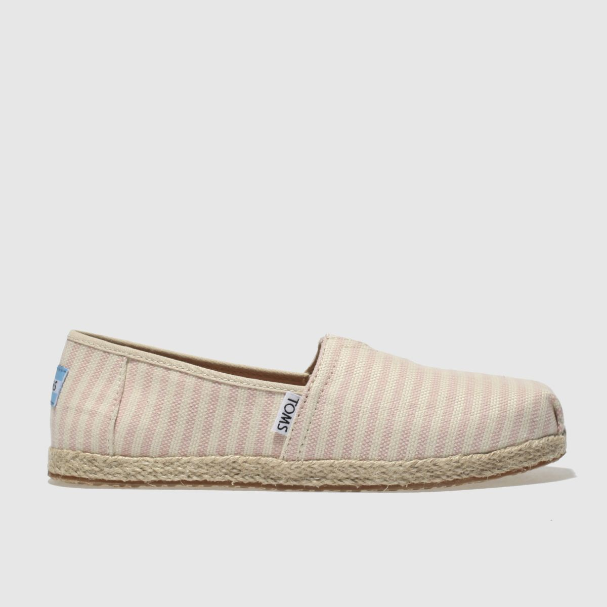 Toms Cream & Pink Classic Girls Youth Shoes