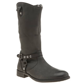 Hush Puppies Black Annie Girls Youth