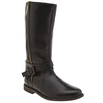 Hush Puppies Black Jess Girls Youth