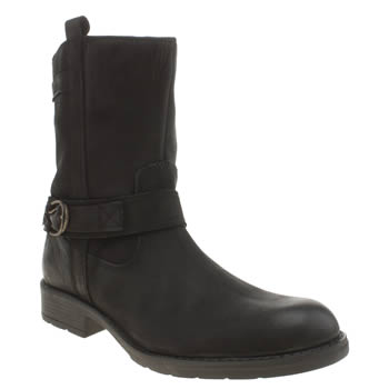 Hush Puppies Black Harley Girls Youth