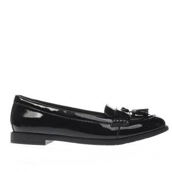 Clarks Black Preppy Edge Girls Youth