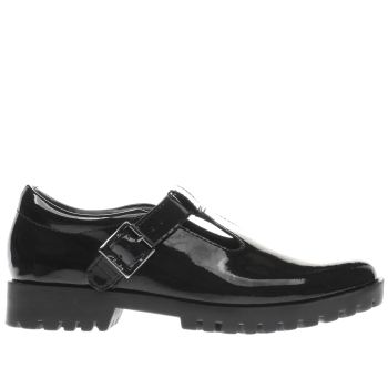 CLARKS BLACK AGNES MEG GIRLS YOUTH SHOES