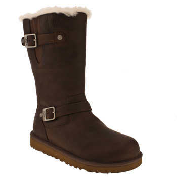 Girls Ugg Australia Dark Brown Kensington Girls Youth