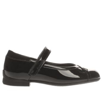 Clarks Black Movello Lo Girls Youth