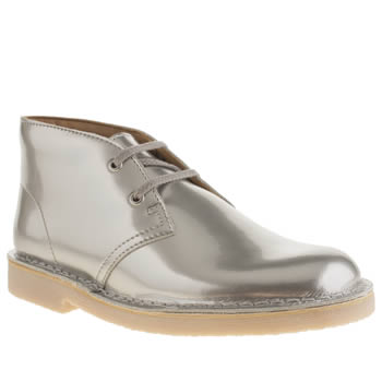 Clarks Originals Silver Desert Boot Girls Youth