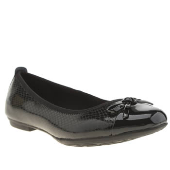CLARKS BLACK TIZZ HOPE GIRLS YOUTH SHOES