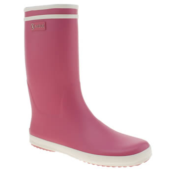 kids aigle pink lolly pop boots
