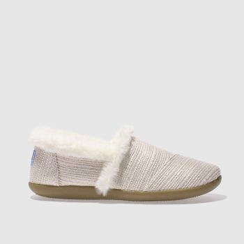 Toms Pale Pink HOUSE SLIPPER Girls Youth