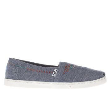 Toms Blue Denim Classic Girls Youth