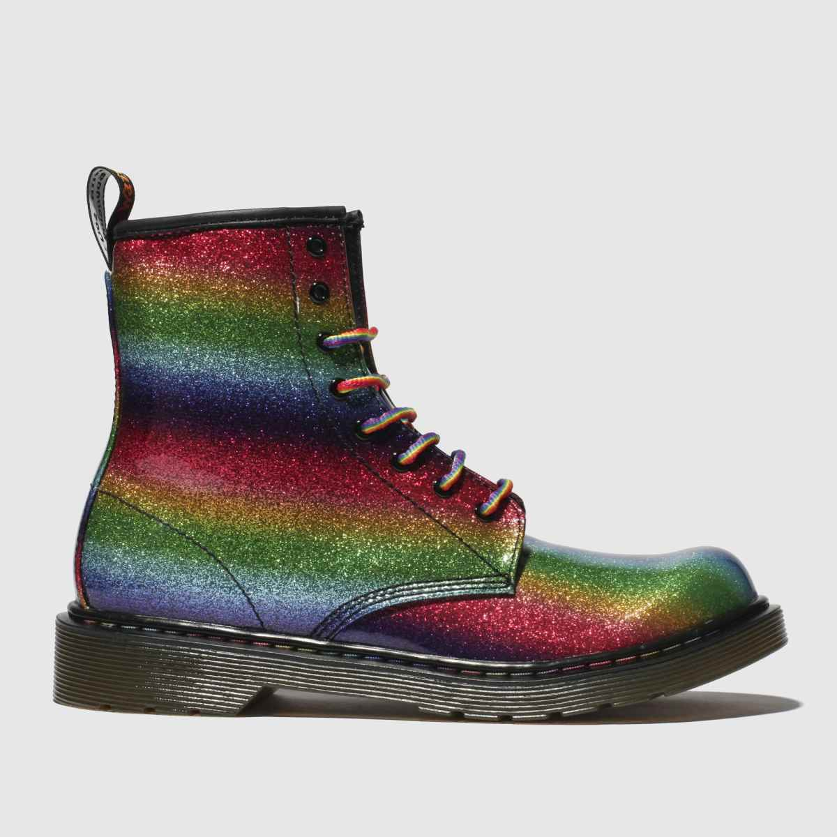 Dr Martens Green & Red 1460 Glitter Boots Youth