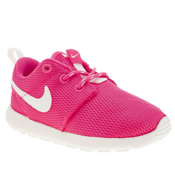 Girls Nike Pink Rosherun Girls Toddler