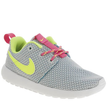 Girls Nike Light Grey Roshe Run Girls Toddler