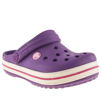 Crocs Purple Crocbands Girls Toddler