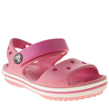 Girls Crocs Pale Pink Crocband Sandal Girls Toddler