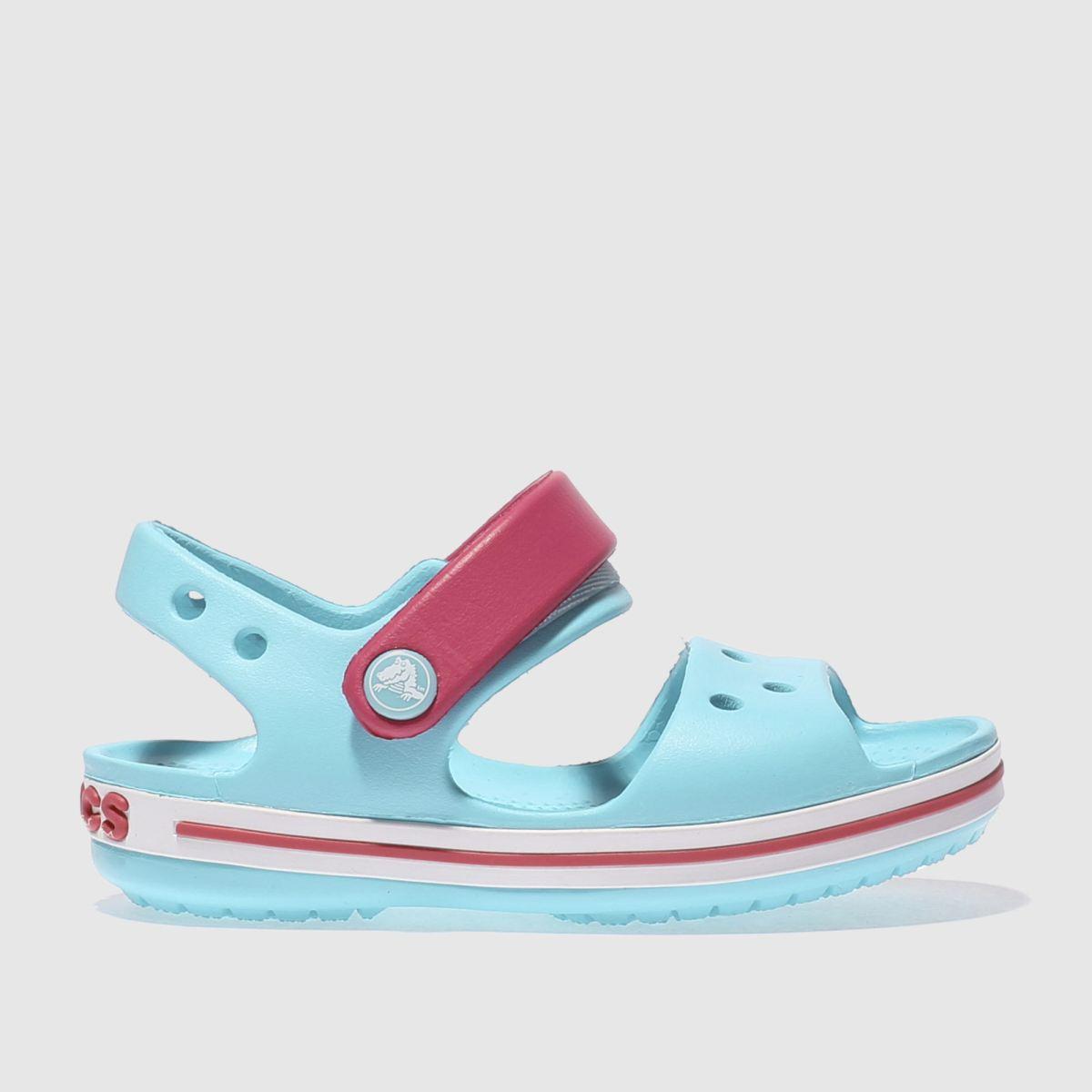 Crocs Crocs Pale Blue Crocband Sandal Girls Toddler Sandals