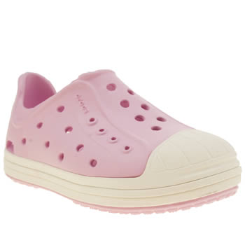 Girls Crocs Pale Pink Bump It Girls Toddler