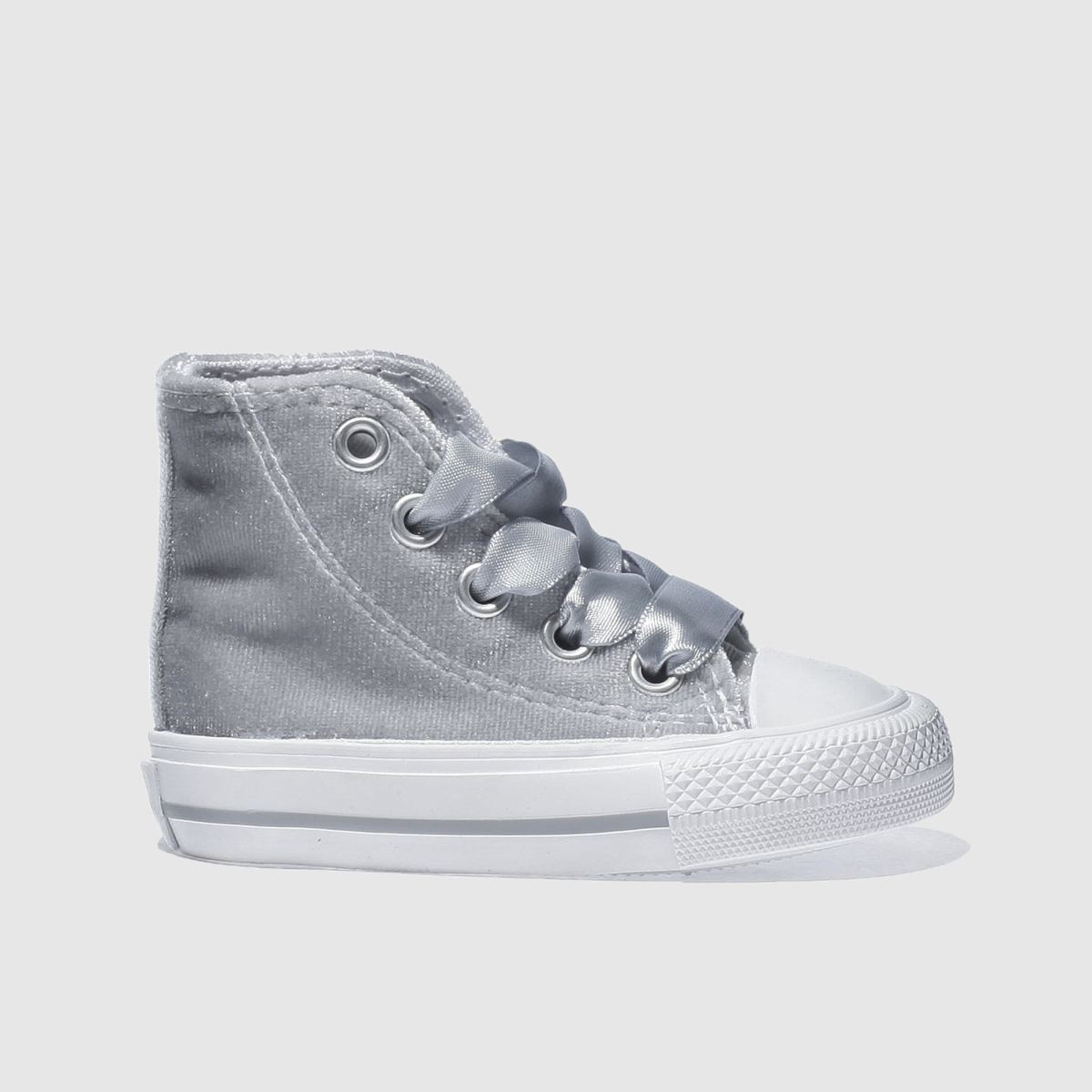 converse silver all star velvet hi Girls Toddler Trainers