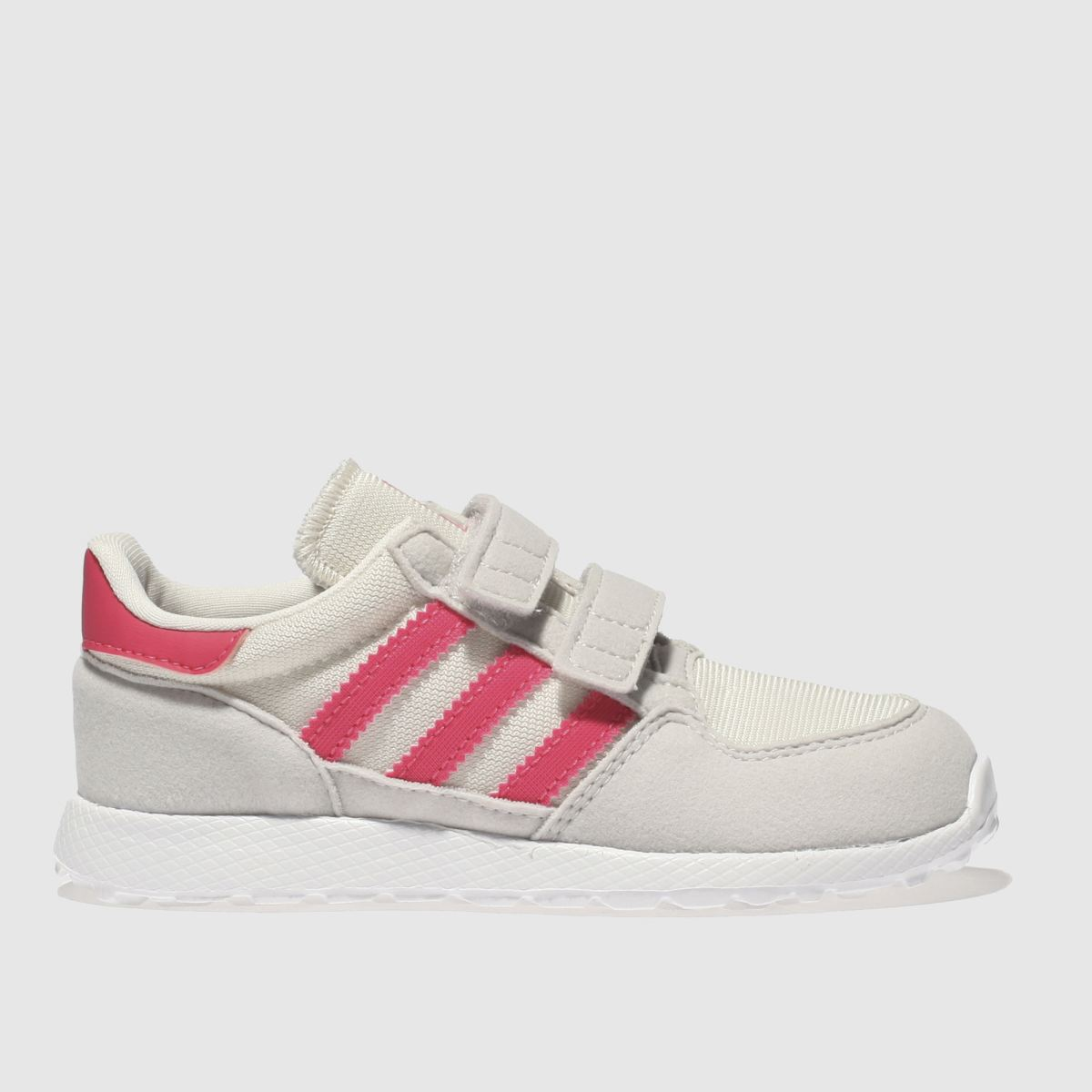 Adidas White & Pink Forest Grove Girls Toddler Toddler