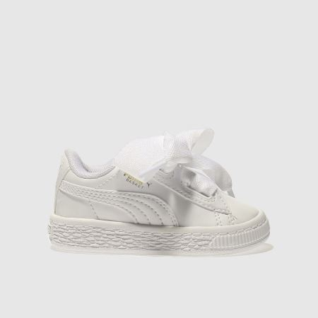 Puma Basket Heart White Patent