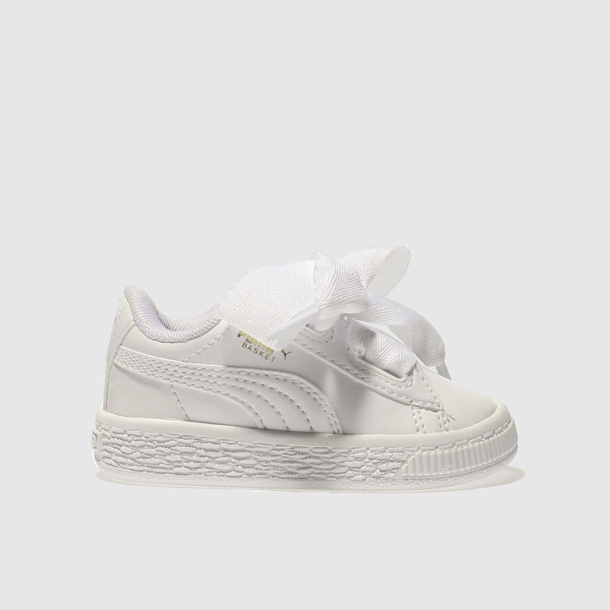 puma white basket heart patent Girls Toddler Trainers