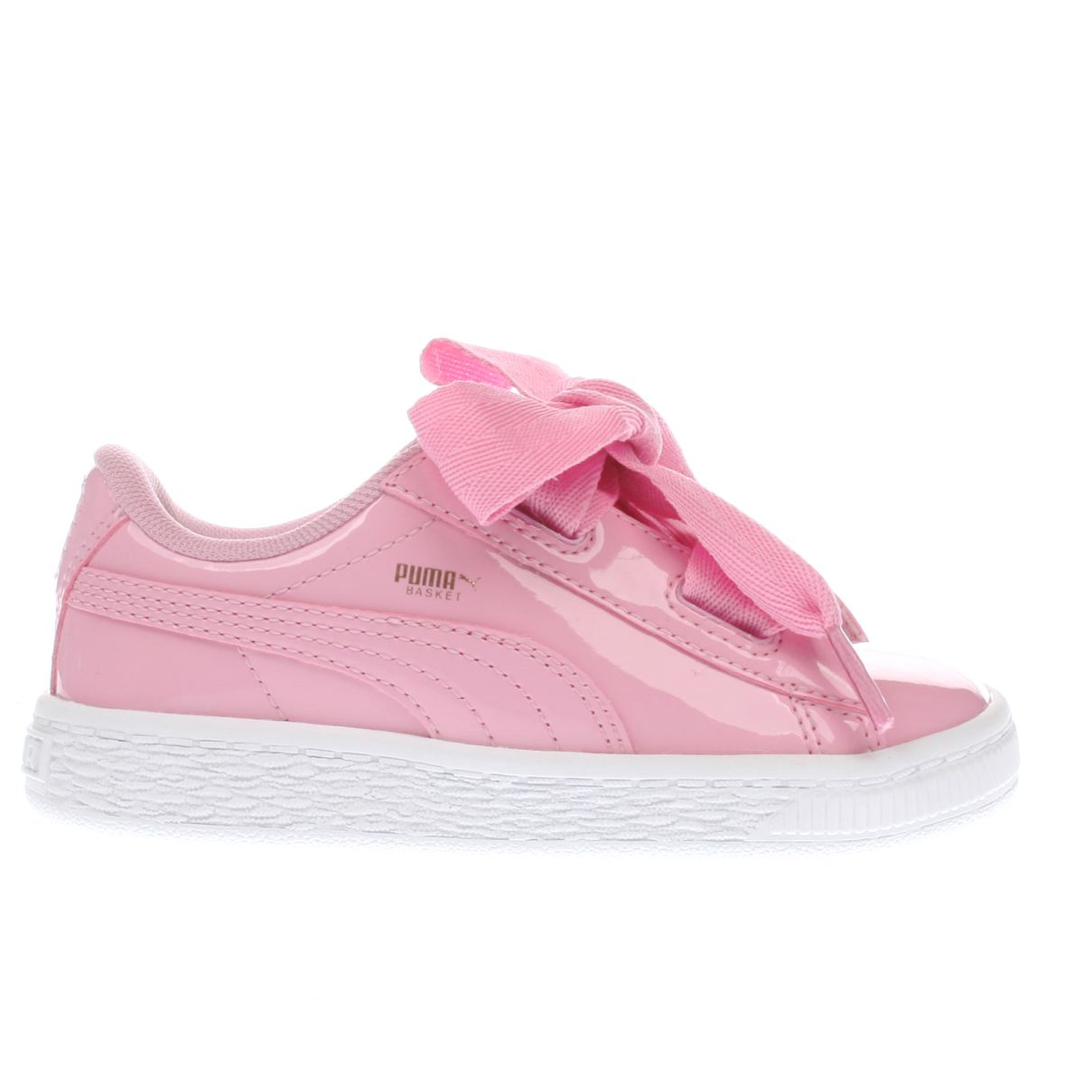 Puma Pink Basket Heart Patent Girls Toddler Toddler
