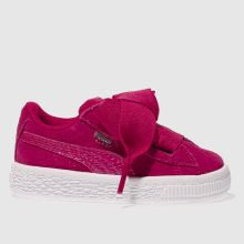 Puma Pink Basket Heart Snake Girls Toddler