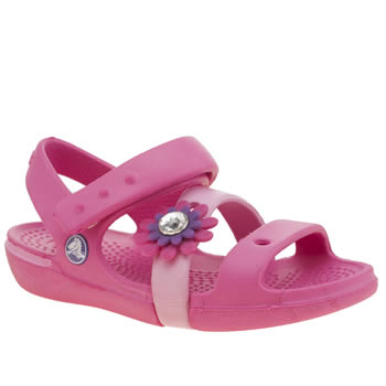 Crocs Pink Keeley Petal Charm Girls Toddler
