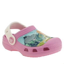 Crocs Pink Frozen Clog Girls Toddler