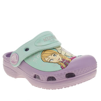 Girls Crocs Lilac Frozen Clog Girls Toddler