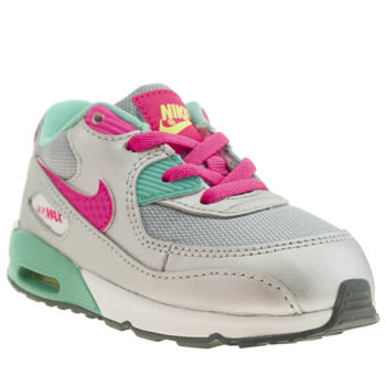 Nike Silver Air Max 90 2007 Girls Toddler